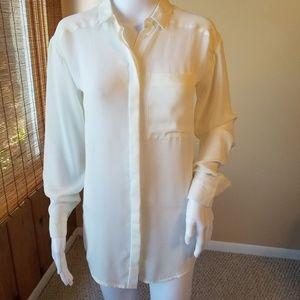Sheer off white TopShop shirt